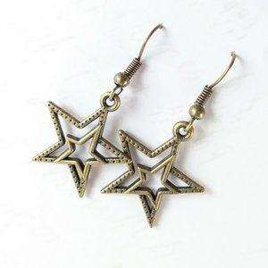 Bronze Star Earrings